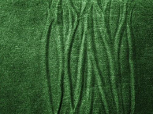 Wrinkled Green Jeans Texture, High Resolution