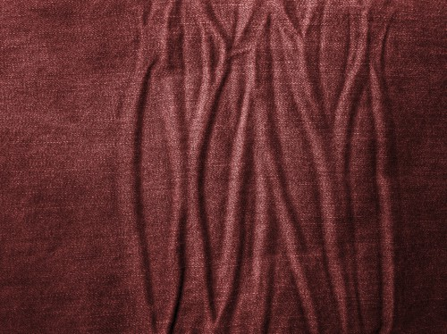 Wrinkled Red Jeans Texture, High Resolution