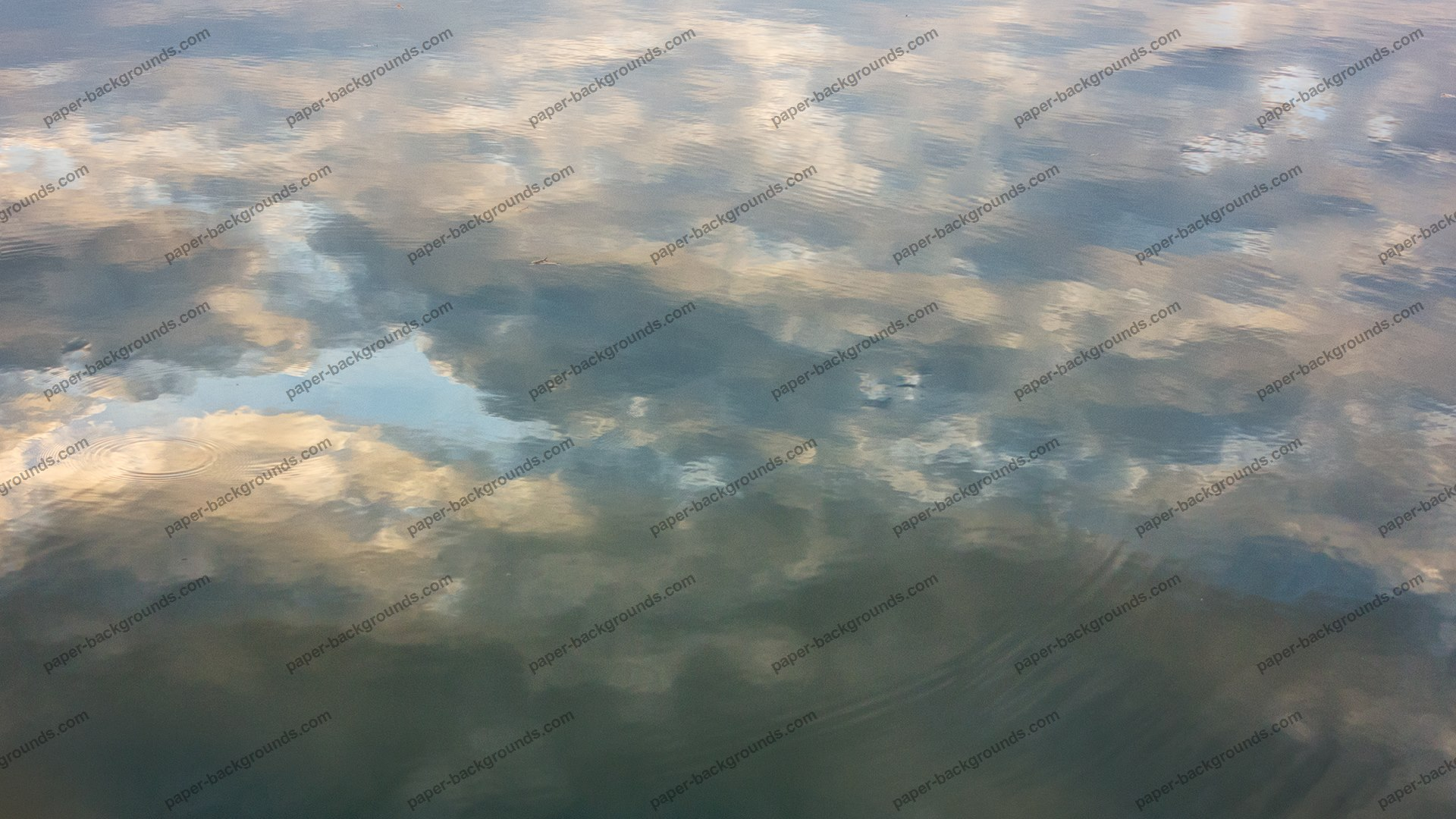 Clouds Reflected In Water HD 1920 x 1080p
