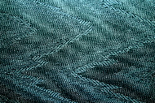 Cyan Canvas With Zigzag Pattern, High Resolution