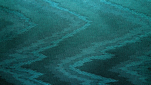 Cyan Canvas With Zigzag Pattern HD 1920 x 1080p