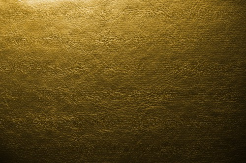 Golden Yellow Leather Background, High Resolution