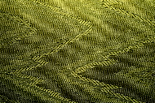 Green Canvas With Zigzag Design, High Resolution