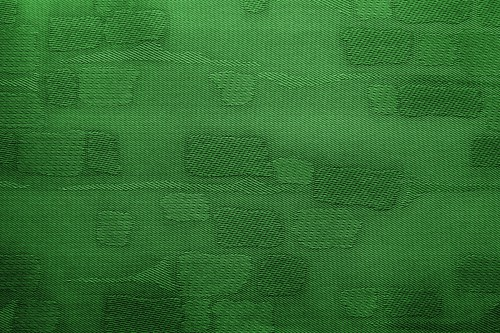 Green Fabric Background With Patches, High Resolution