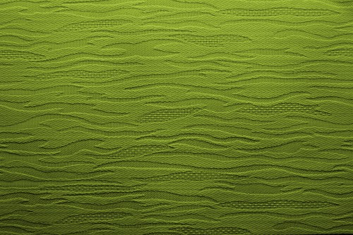 Green Fabric Background With Waves, High Resolution