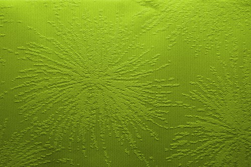 Green Fabric With Floral Texture, High Resolution