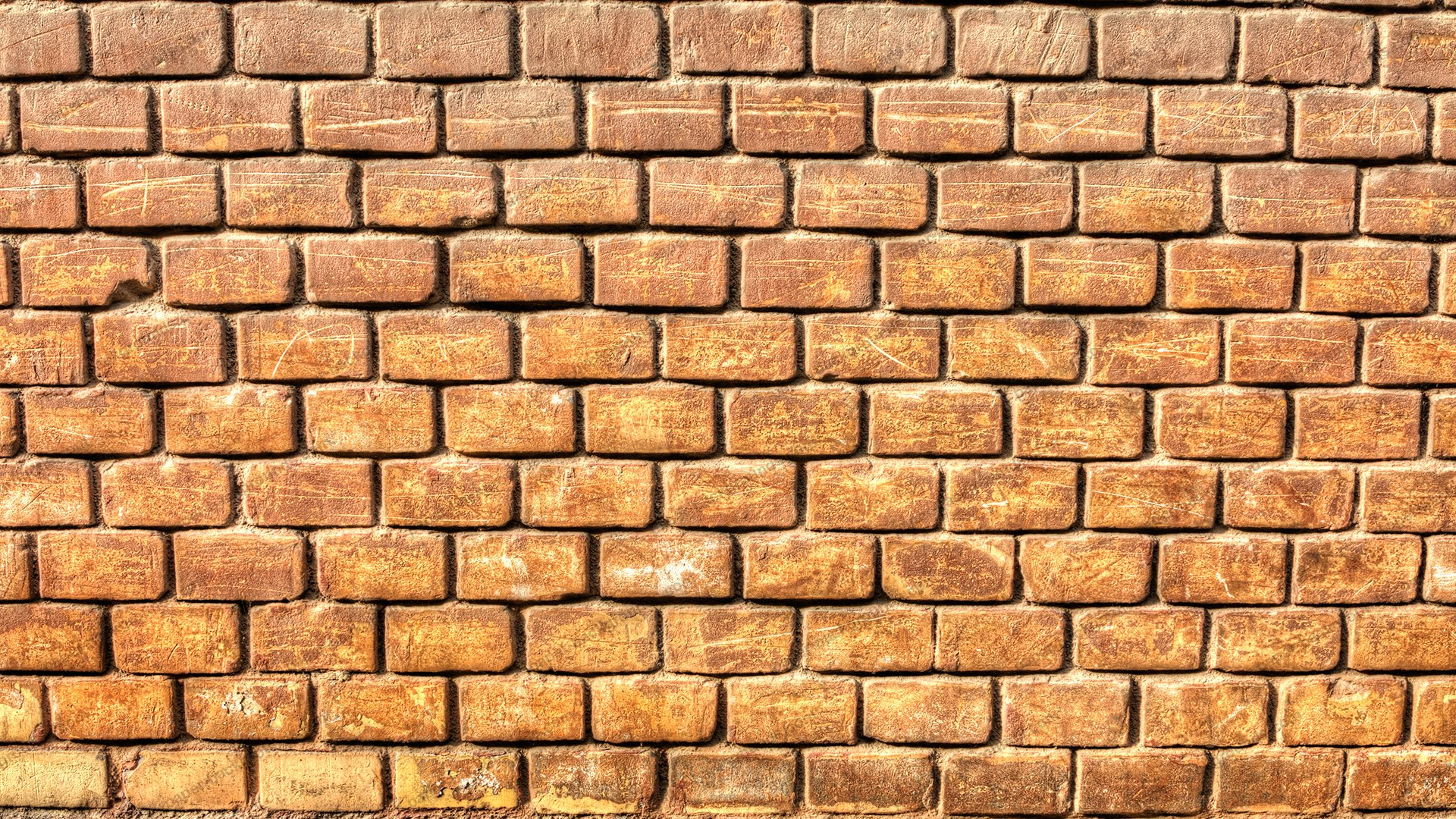 Old Grungy Brick Wall HD 1920 x 1080p