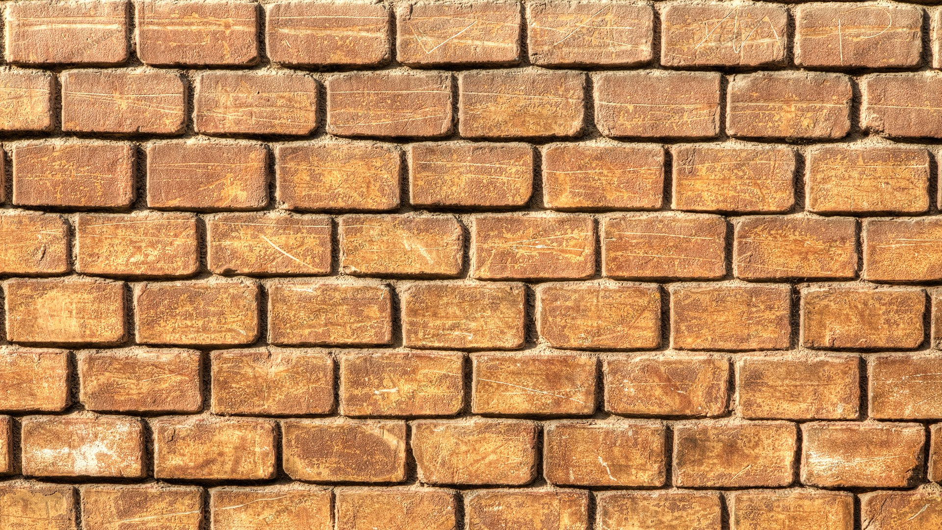 Old Rugged Brick Wall HD 1920 x 1080p