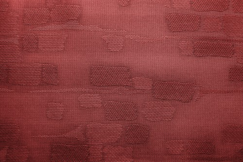 Red Fabric Background With Patches, High Resolution
