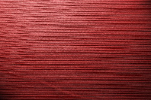 Red Fabric Background With Stripes, High Resolution