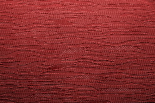 Red Fabric With Waves Background, High Resolution