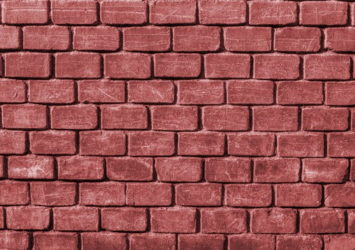 Red Rugged Brick Wall, High Resolution