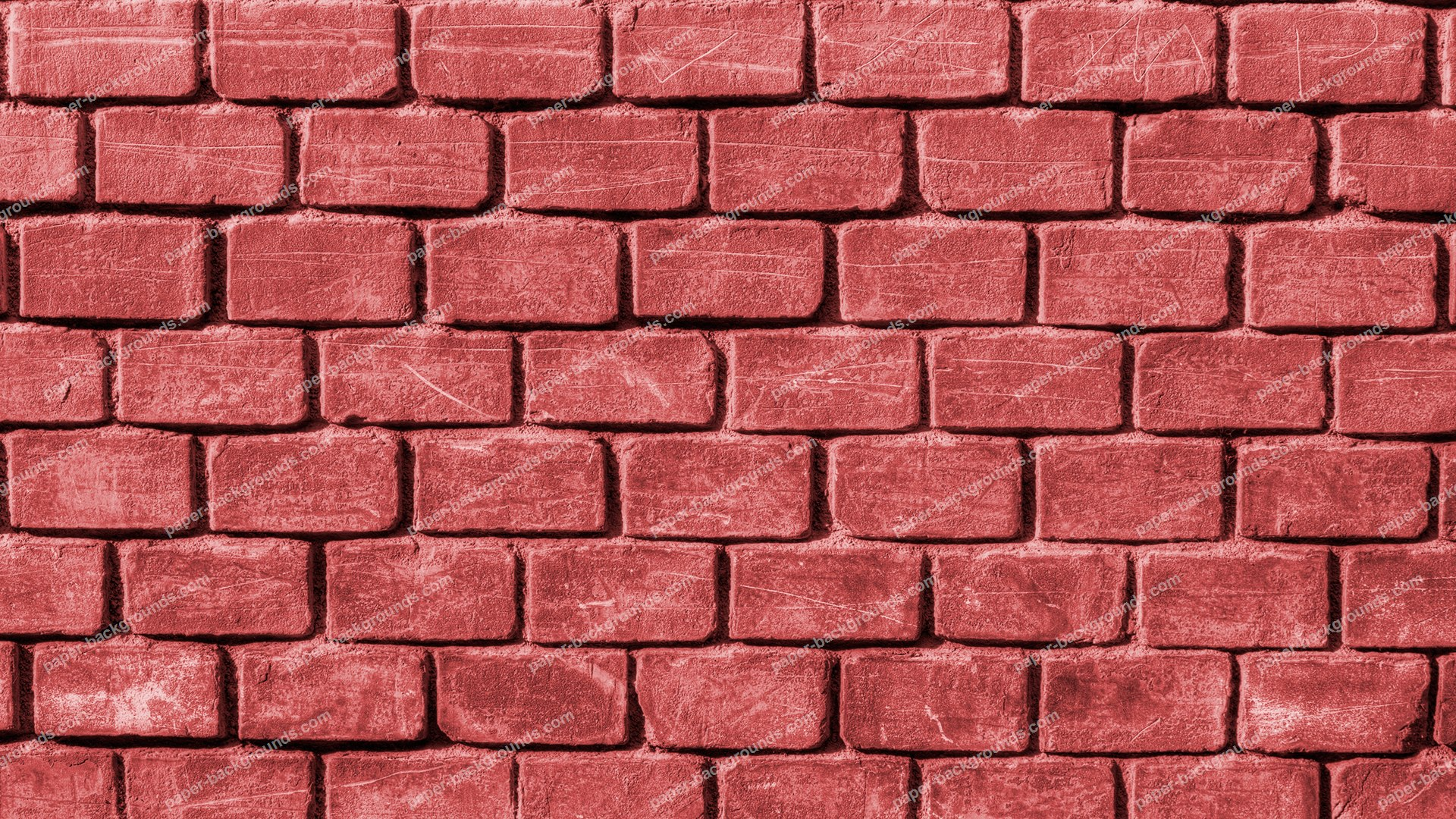 Red Rugged Brick Wall HD 1920 x 1080p