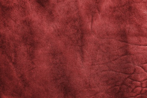 Red Vintage Leather Texture, High Resolution