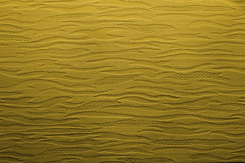 Yellow Fabric Background With Waves, High Resolution