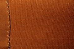 Brown Fabric Texture With Stitches