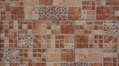 Brown Hone Tiles With Ancient Pattern