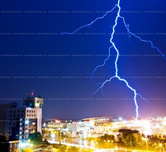 Night Lightning Sky Background