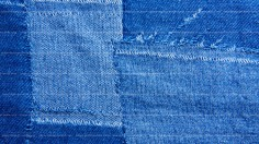 Patched Blue Jeans Texture