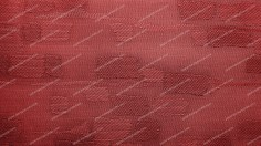 Red Fabric Background With Patches