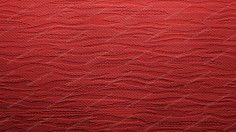 Red Fabric With Waves Background
